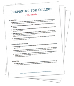 Download the printable version of these Preparing for College checklists