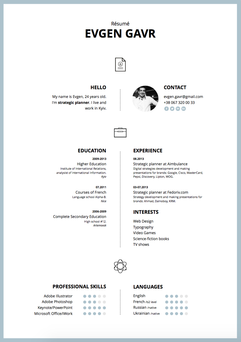 free modern two column resume template