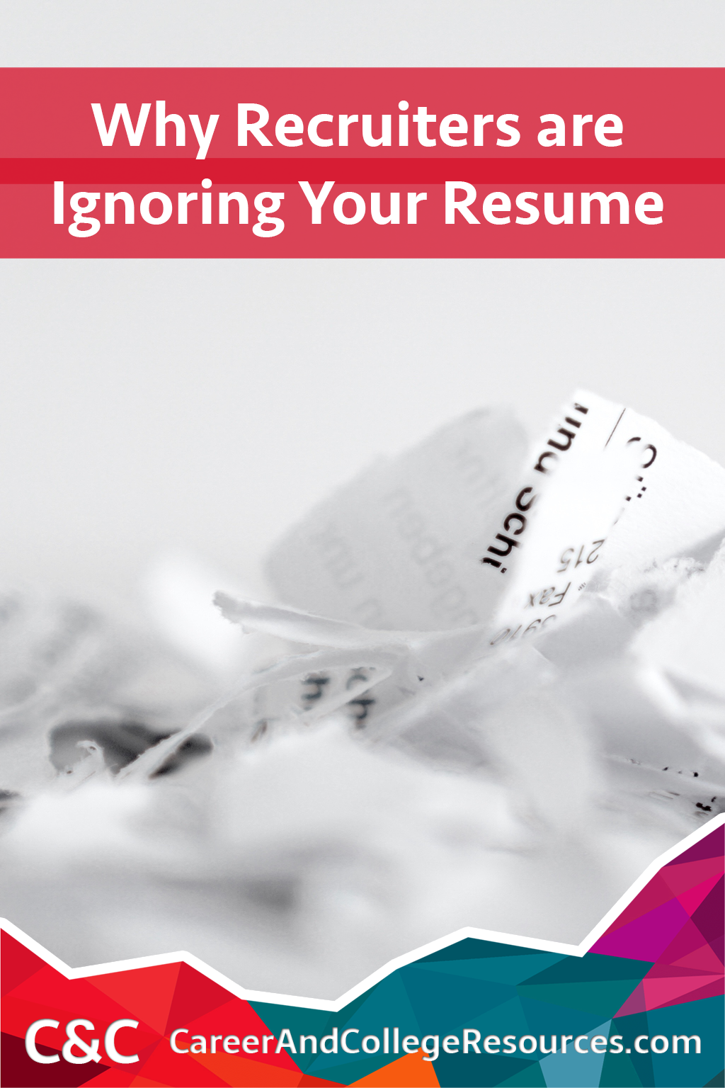 Why recruiters are ignoring your resume