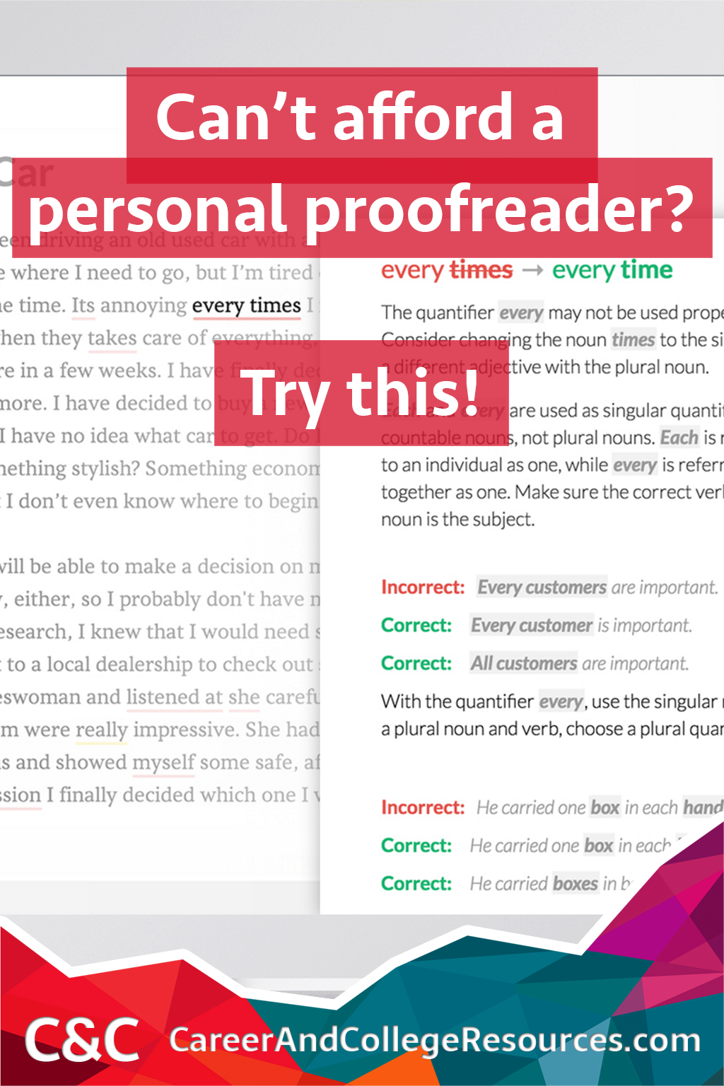 Can't afford a personal proofreader? Try this FREE app!