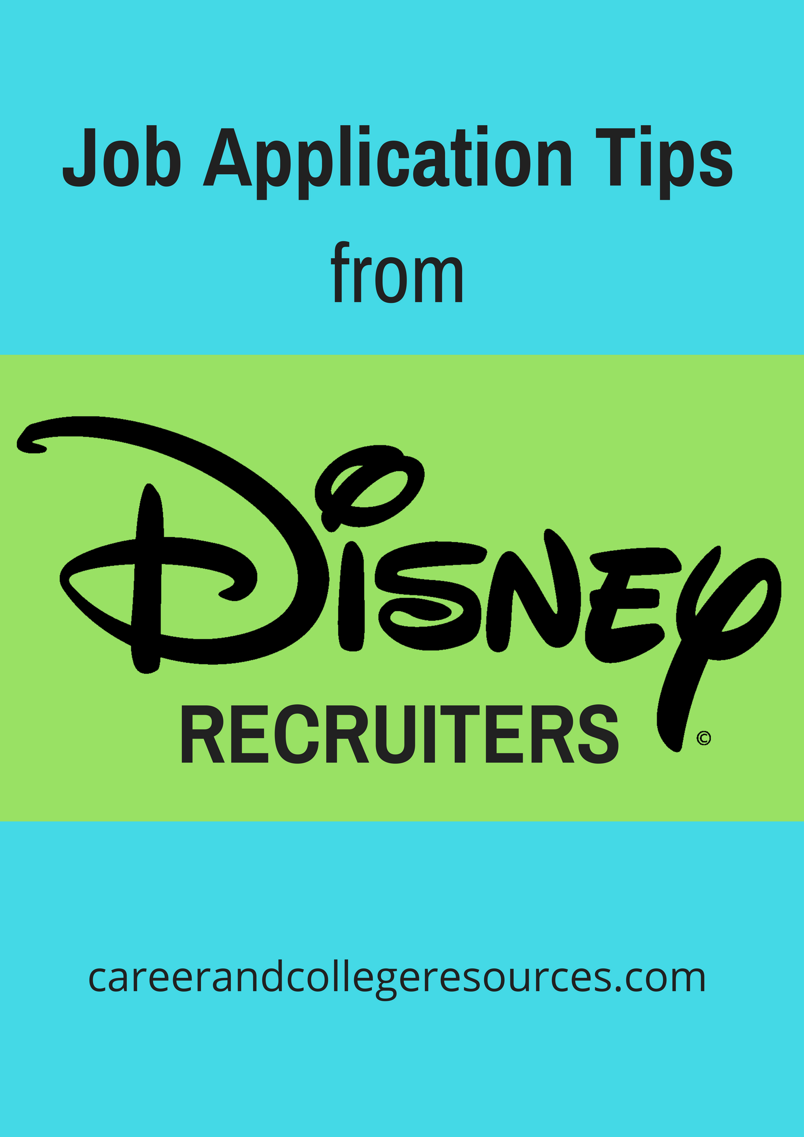 Job Application Tips from Disney Recruiters