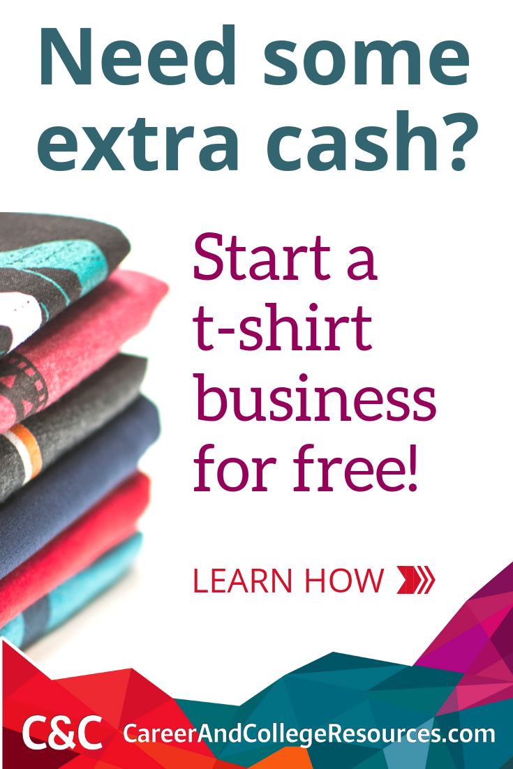 Need extra some extra cash? Start a t-shirt business for free! #workfromhome #sidehustle #makemoneyonline
