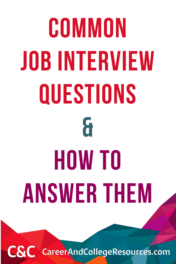 Common job interview questions and how to answer them. #jobinterview #gethired
